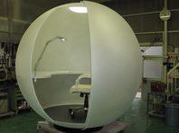 半透明球の部屋